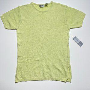 Lightweight Yellow Short Sleeve Sweater Vintage